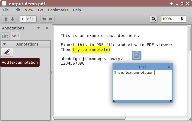 how to highlight in document viewer ubuntu