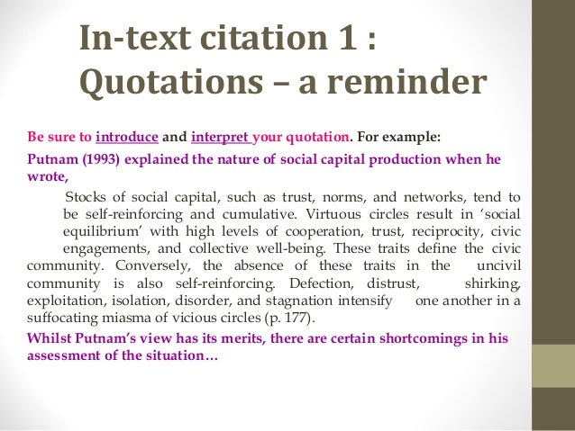 an example of quoting text in a document