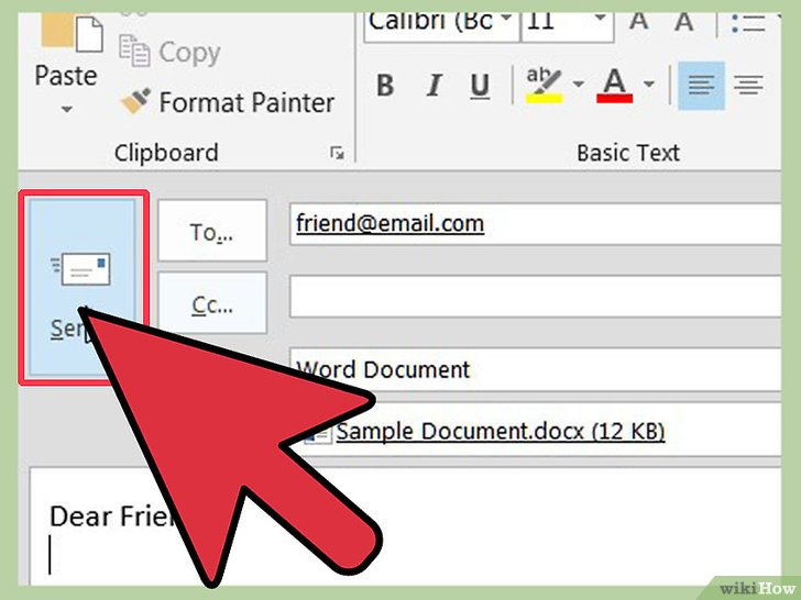 how to insert an attachment into a word document