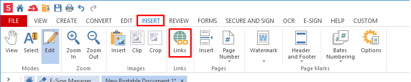how to create a link for a pdf document