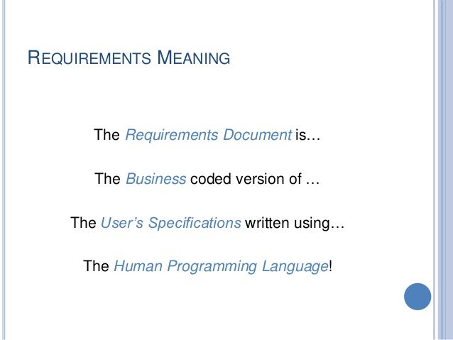 requirements gathering analysis and documentation