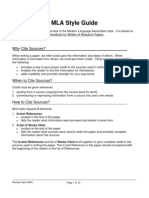 mla style documentation worksheet answers