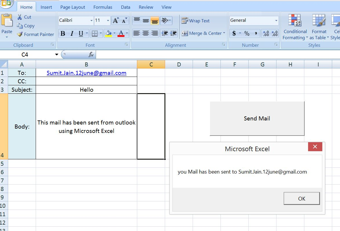 how to send a word document embedded in email