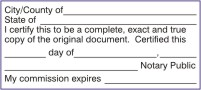 how to certify a copy of a document
