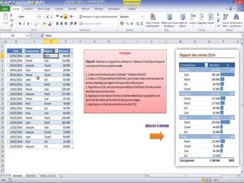faire un document interactif excel