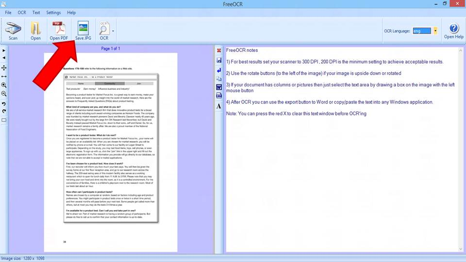 transformer un document pdf en jpeg