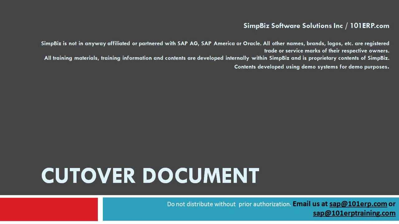 as is and to be document in sap