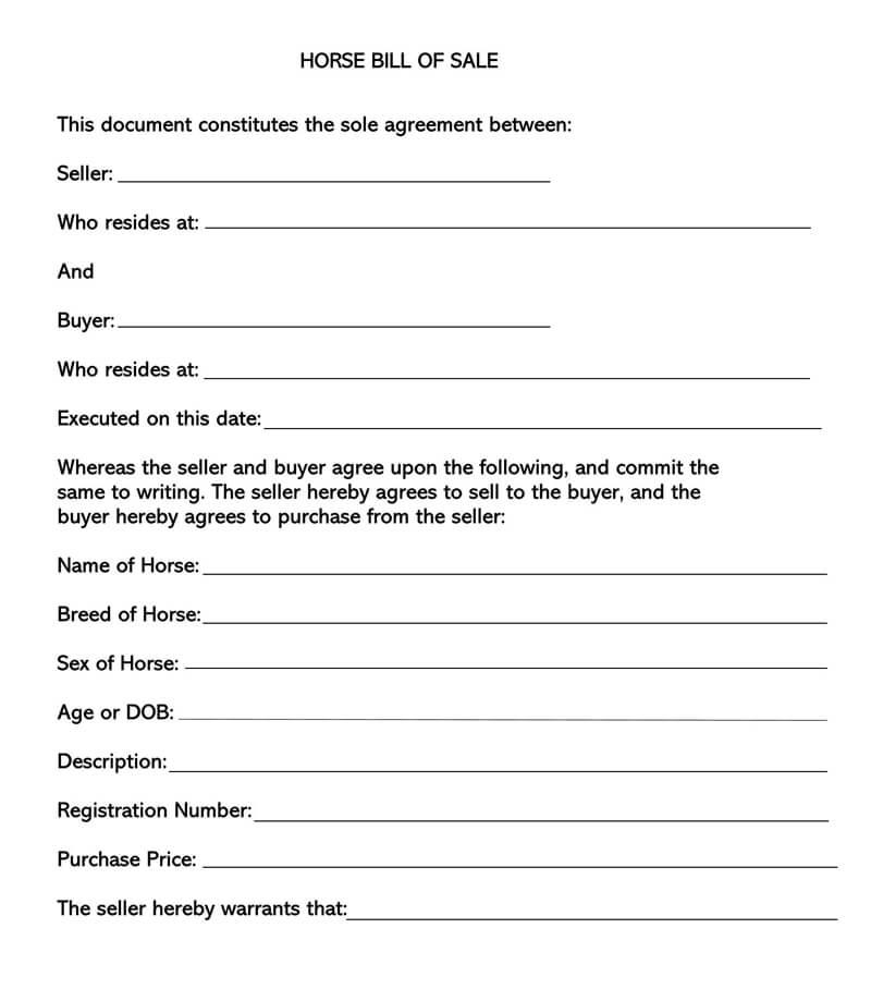 bill of sale document pdf