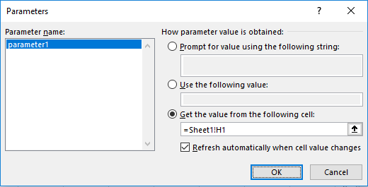 c excel library add parameter documentation