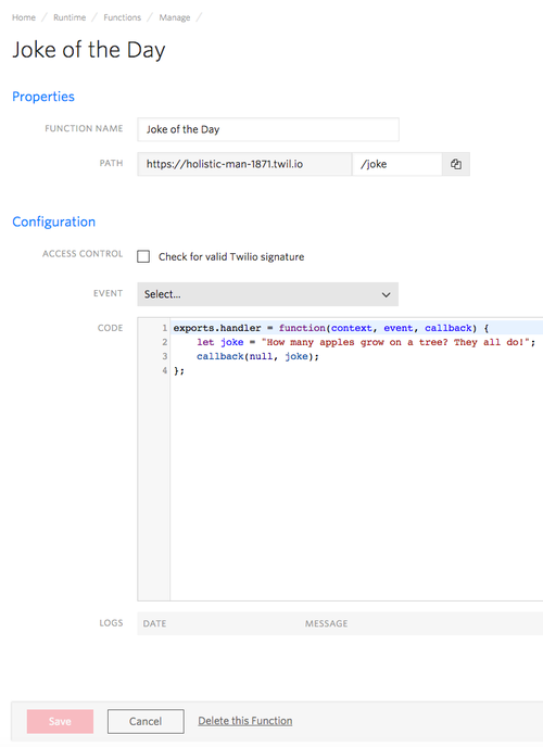 code comment document function call