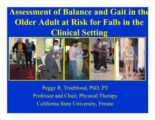 how to document gait and balance
