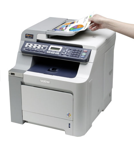 how to scan a document through network printer
