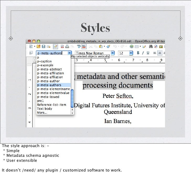 how to view metadata in a word document