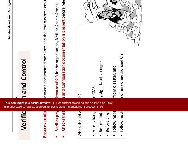 itil configuration management process document