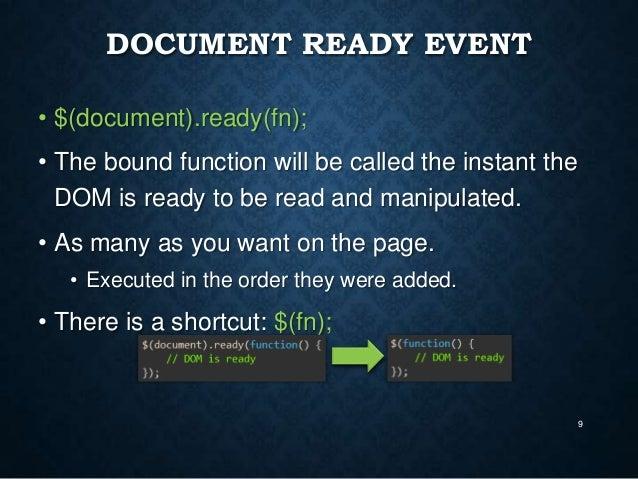jquery document ready click event