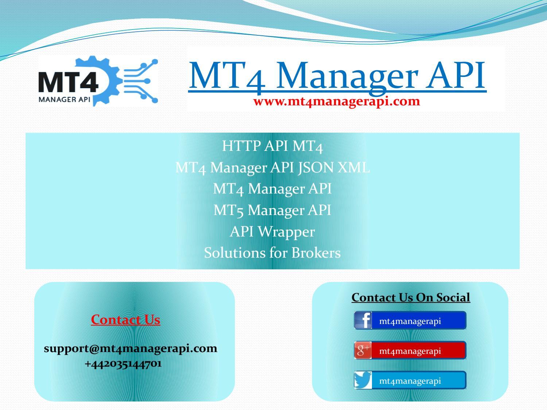metatrader 4 manager api documentation