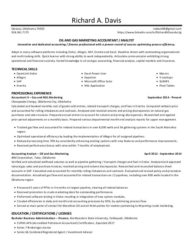 oil and gas document controller resume