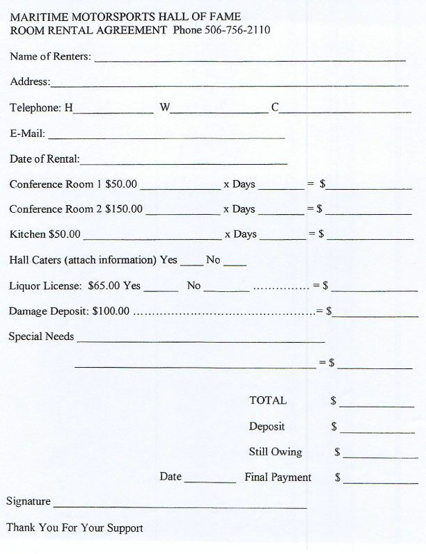 simple month to month rental agreement word document
