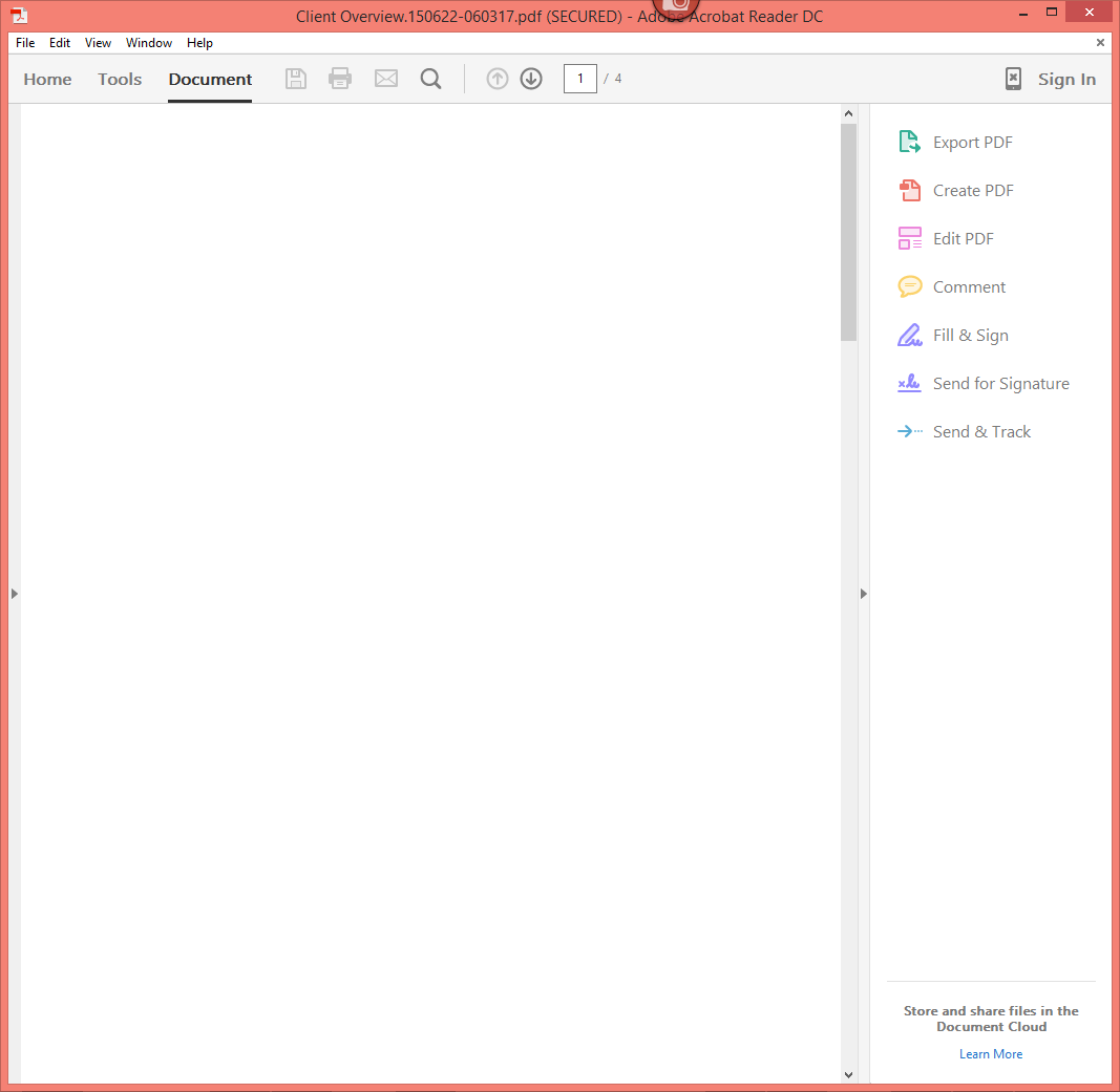 this document enabled extended features in adobe acrobat dc