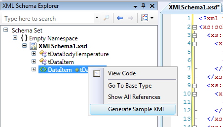 what is an xml document example