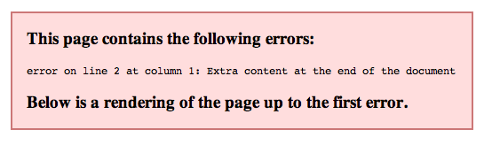 xml extra content at the end of the document
